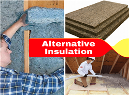 Montage of 3 images illustrating article on alternative insulation