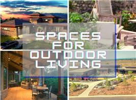 4 home outdoor spaces illustrating article about outdoor living