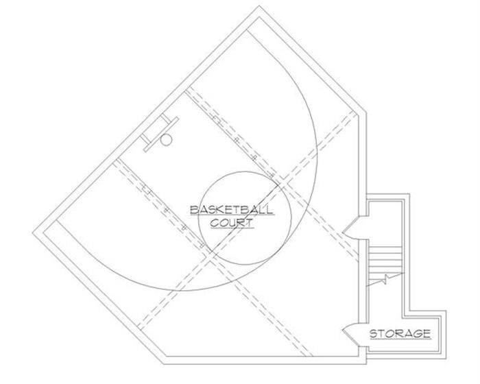 building house plan with indoor basketball court
