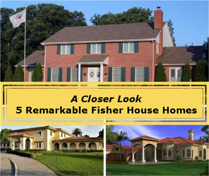Three photos depicting Fisher House Foundation homes