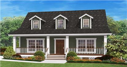 Small house plan in the Ranch style that maximizes space with 3 bedrooms and 2 baths.