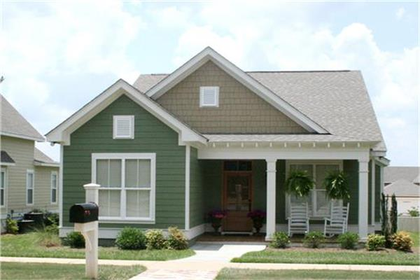 House design in the cottage architectural style with its charm and traditional details.