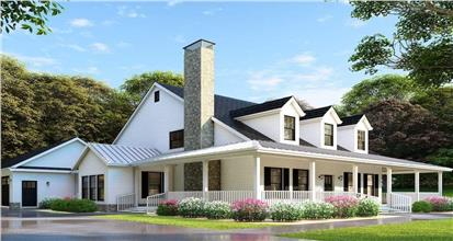 A well-designed 1.5-story house plan providing maximum living space within a building budget.