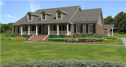 TPC style 1 1/2 Story House Plans
