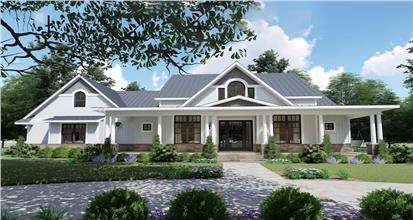 Modern farmhouse with 3 bedrooms and 2787 square feet