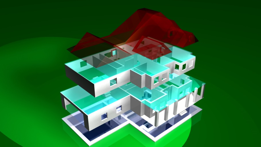 Digital model of house plan 187-1001 with 3D printing files