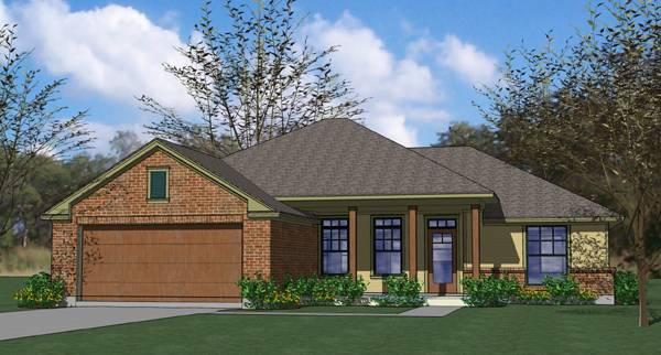 3 Bedroom Ranch Home Plan