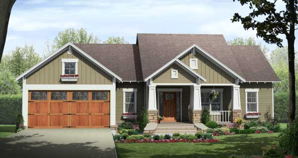 3 Bedroom, 1604 Square Feet Craftsman Home Plan